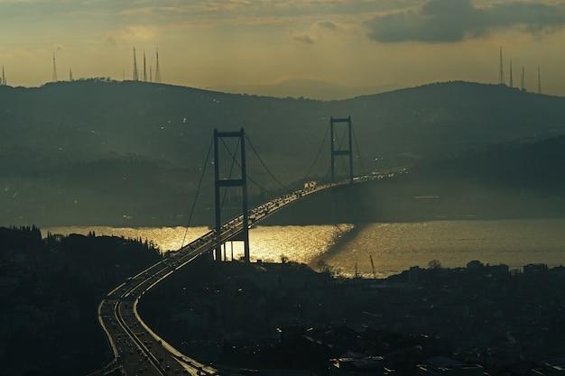 Ponte no por do sol
