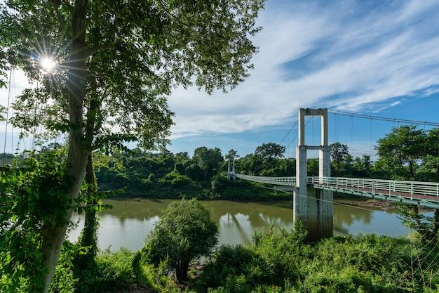 Ponte suspensa mais longa da região nordeste do tana rapids national park