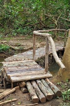 Ponte velha de madeira