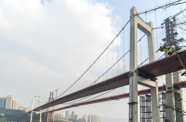 Pontes em construção em chongqing, china