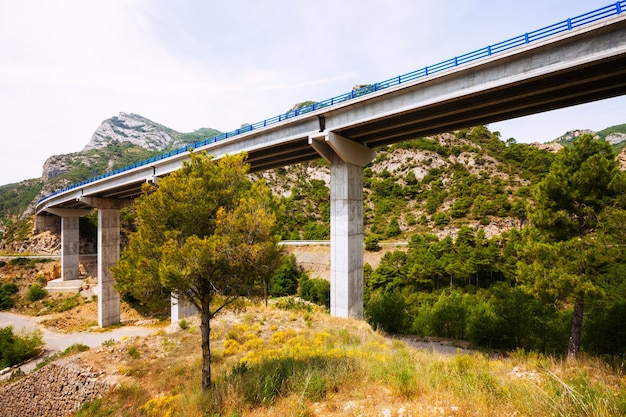 Pontes nas montanhas. catalunha