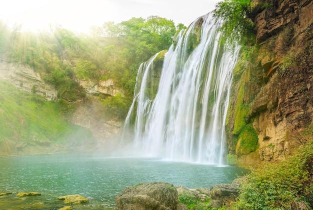Pontes, planta, reflexão, cachoeiras, florestas