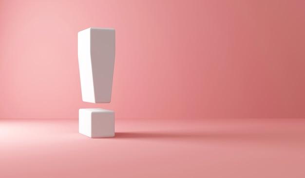 Ponto de exclamação em rosa
