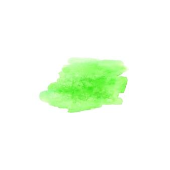 Ponto de modelo de design de logotipo em aquarela verde. mancha verde aquarela mão desenhada sinal etiqueta emblema cartaz banner. eco design modelo grunge escova textura ilustração isolada no fundo branco