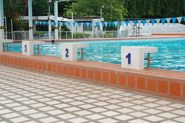 Ponto de partida em uma piscina