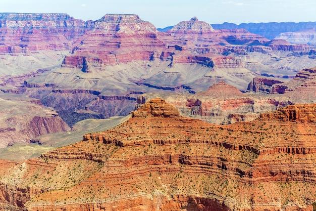 Ponto do yavapai do arizona national park do grand canyon
