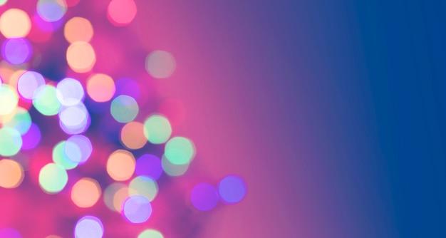 Pontos coloridos desfocados. luzes de natal de ano novo