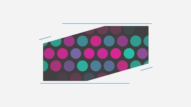 Pontos verdes e roxos geométricos abstratos com linhas, fundo retrô. estilo de ilustração 3d dinâmico elegante e luxuoso para negócios e modelos corporativos