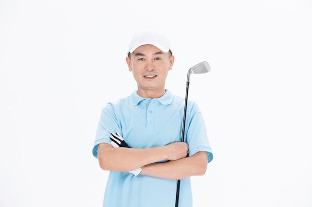 Pontuação de balanço de golfe de lazer branco