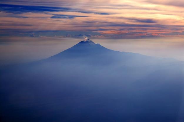 Popocatepetl, méxico, df, vulcão, de, céu