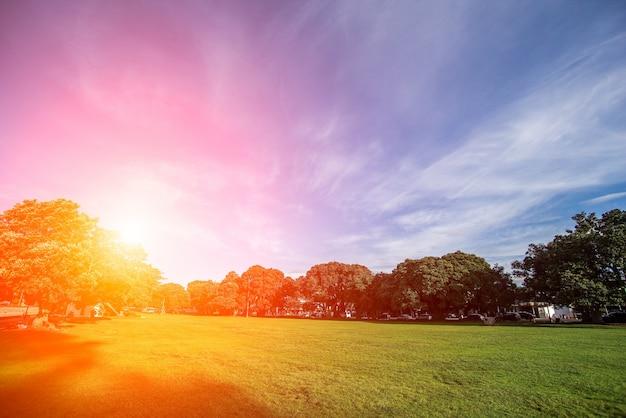 Por do sol bonito no campo