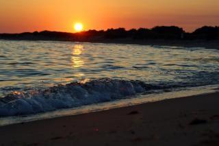 Pôr do sol das ondas