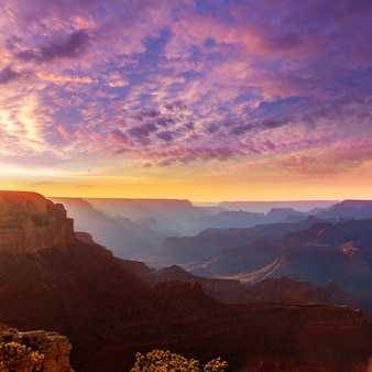Por do sol do arizona parque nacional do grand canyon yavapai point