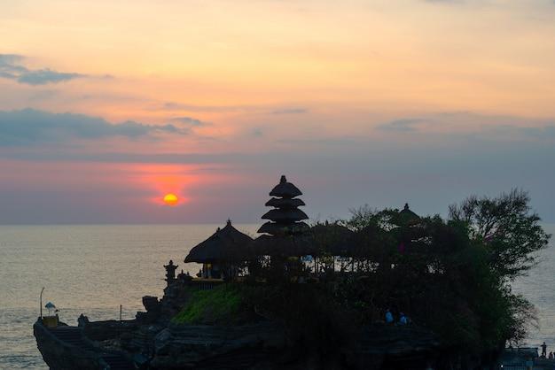 Pôr do sol, sobre, hindu, templo