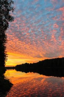 Pôr do sol sobre o rio do norte