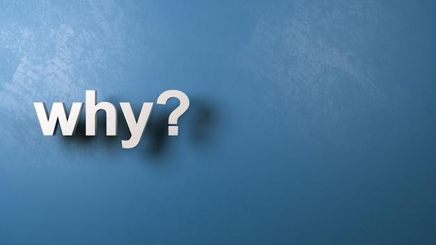 Por que pergunta isolada
