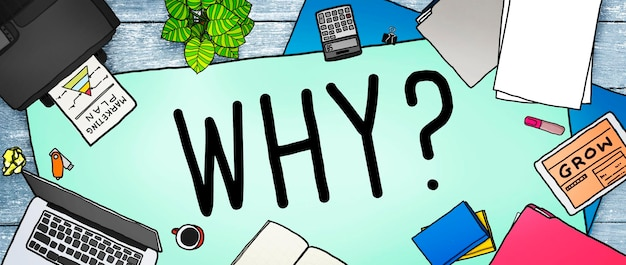 Por que questionar, motivo de curiosidade, confundir o conceito