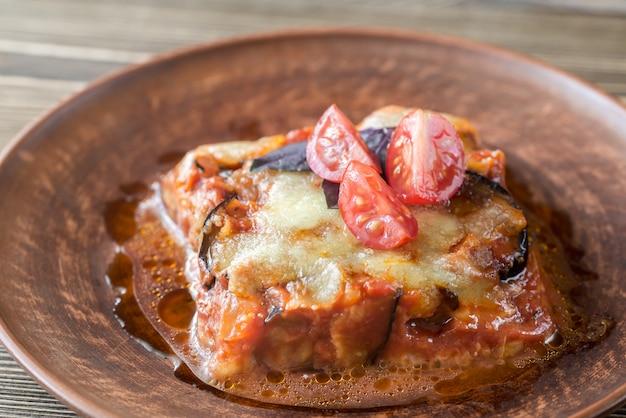 Porção de parmigiana di melanzane
