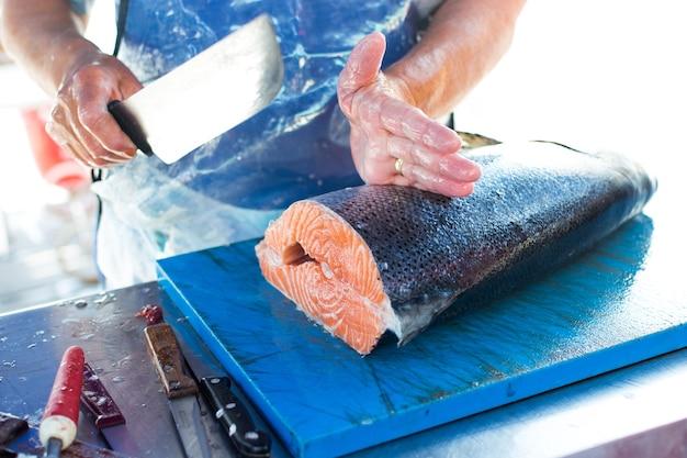 Porção de salmão