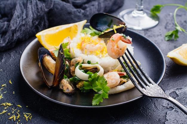 Porção refogue frutos do mar