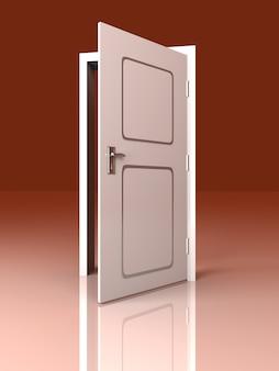 Porta branca aberta