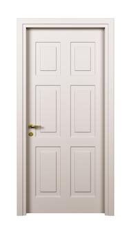 Porta branca fechada isolada