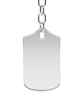 Porta-chaves em prata em branco