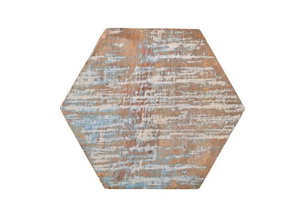 Porta-copos de madeira isolada na parede branca, porta-copos de madeira única