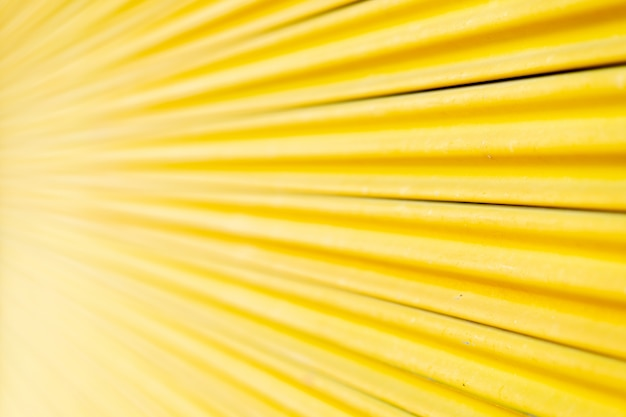 Porta de aço amarela, belas proporções.