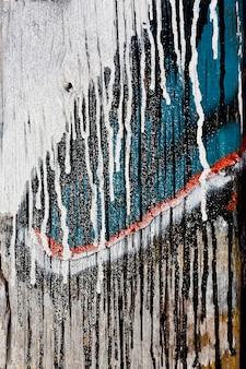 Porta de madeira de textura desgastada Foto Premium
