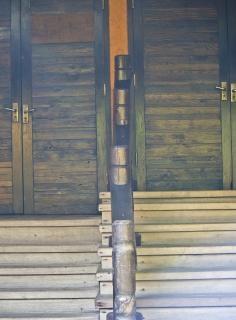 Porta de madeira exótica