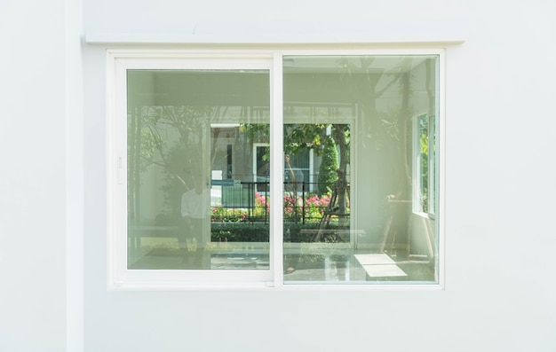 Porta de vidro vazia