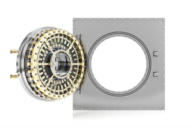 Porta do cofre de banco aberta