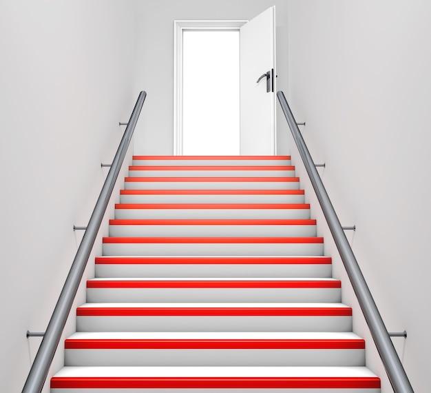 Porta e escada abstratas em cor cinza