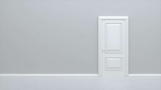Porta fechada branca