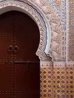 Porta fechada, riad, dixneuf, la, ksour, marrakesh, marrocos