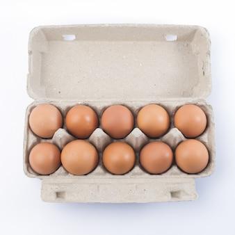 Porta-papelão com ovos