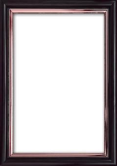 Porta-retrato vazio com um lugar livre dentro, isolado na parede branca