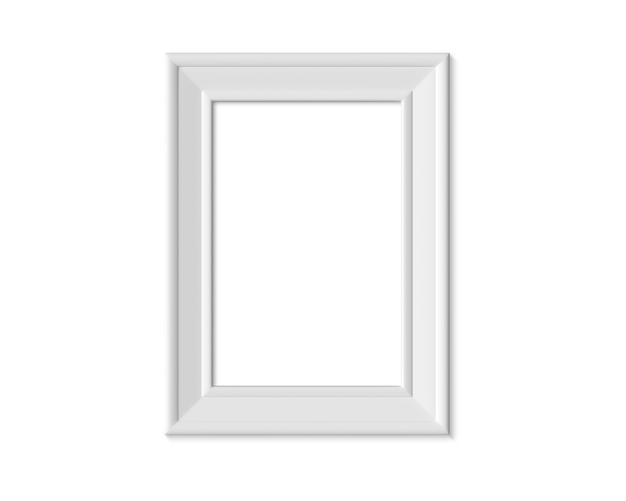 Porta-retrato vertical vertical 2x3 a4. 3d render.