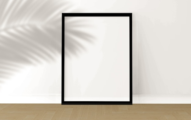 Porta-retratos na sala, renderização em 3d, design de maquetes