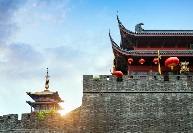 Portão da cidade antiga de hangzhou