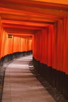 Portão de fushimi inari taisha torii popular marco de viagem de quioto santuário fushimi inari