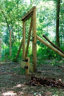 Portão na floresta