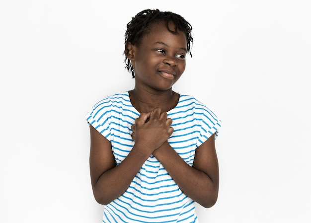 Portarit de uma jovem garota afro-americana