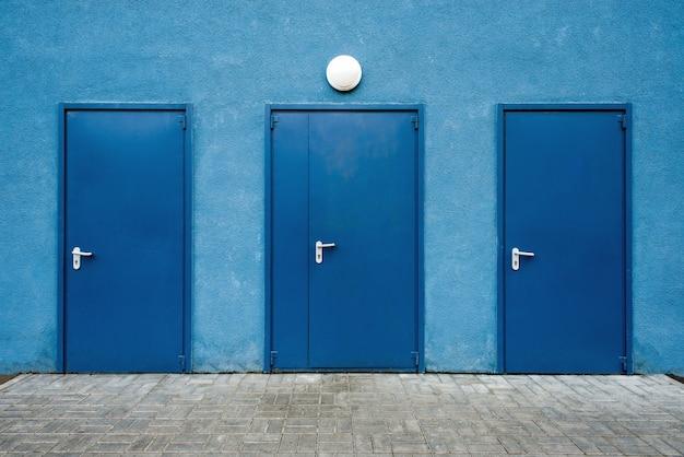 Portas azuis