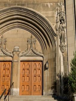 Portas de entrada para o museu de belas artes de montreal, montreal, quebec, canadá