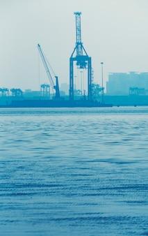Porto de carga industrial