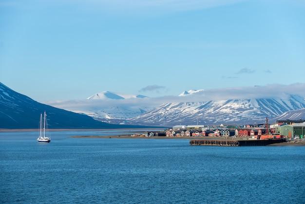 Porto de longyearbyen, arquipélago de svalbard