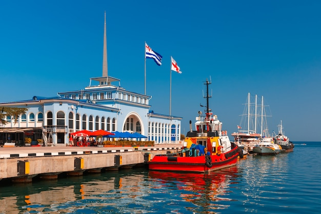 Porto marítimo de batumi em adjara, geórgia