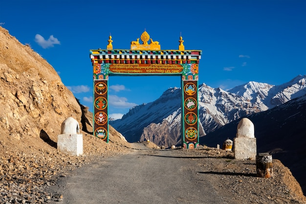 Portões de ki gompa spiti valley himachal pradesh